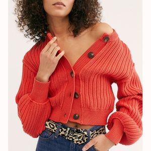 Free People All Yours Cardigan Sweater (Fireside)